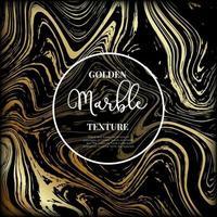 Marmor Gold und schwarze Textur. vektor