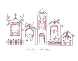 süße Tierbabys in Häusern