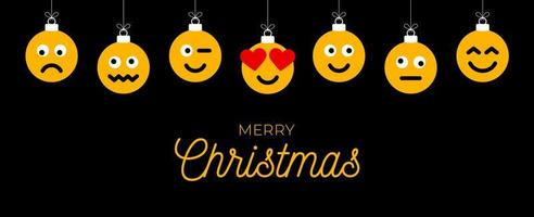 jul hälsning med emoji ansikte ornament