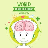 världens psykiska hälsodagsikon