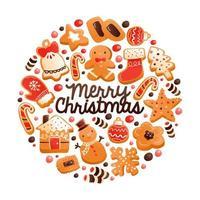 super süße Lebkuchen Weihnachtsplätzchen runde Dekoration