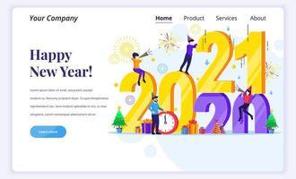 människor firar gott nytt år 2021