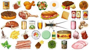 Satz Essen isoliert vektor