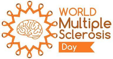 Welt Multiple Sklerose Tag Logo oder Banner vektor