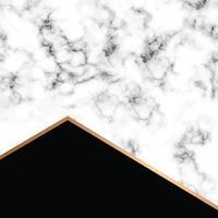 Vektor Marmor Textur Design mit goldenen geometrischen Linien