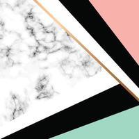 marmor textur design med gyllene geometriska linjer