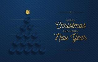Weihnachtsbaum von Hockey Pucks auf blau gemacht vektor