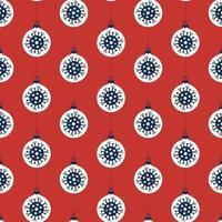Coronavirus Ornament Weihnachten nahtloses Muster vektor