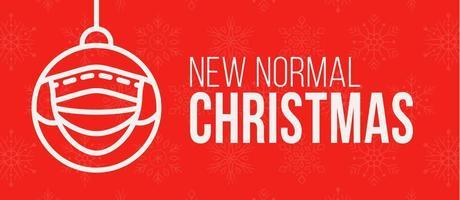 neue normale Weihnachtskonzept-Bannerkarte vektor