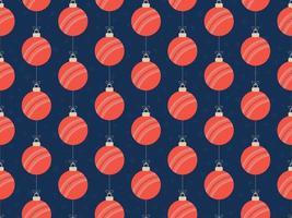 god jul cricketboll sömlöst horisontellt mönster