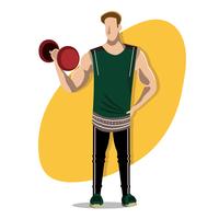 Snygg Fitness Trainer man vektor
