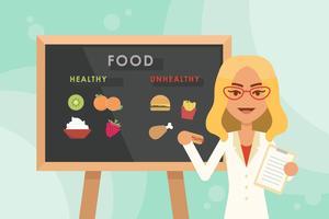 Netter Ernährungsberater vektor
