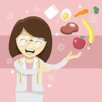 Ernährung Dame vektor