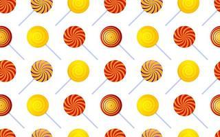 färgglada virvel lollipop sömlösa mönster