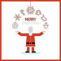 Weihnachtsmann mit Weihnachtsschmuck vektor