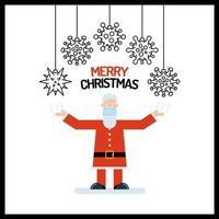 Weihnachtsmann mit Viruszellornamenten vektor