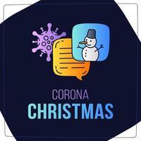 Coronavirus Weihnachtsdiskussionskonzept vektor