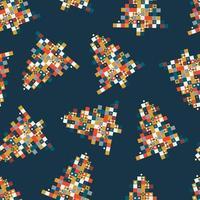 julgran pixelkonst sömlöst mönster vektor