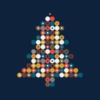 stilisierter Weihnachtsbaum im Punktmuster vektor
