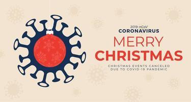 Coronavirus Weihnachtswarnplakat vektor