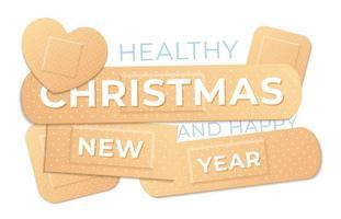 Medical Holiday Concept Banner mit Klebebandpflastern vektor