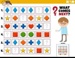 fylla mönstret pedagogisk uppgift för barn