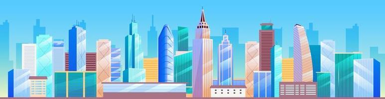 Skyline der Stadt. Metropole vektor