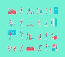 hälsosam livsstil set