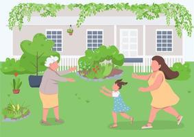 släktingar återförening med mormor