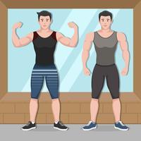 Snygg Fitness Trainer Vector Karaktär