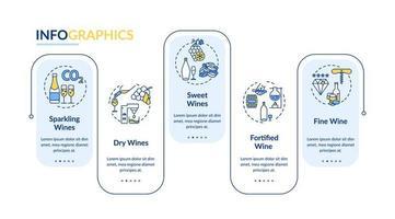vinprovning infografisk mall. vektor