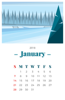 Januari Landskap vektor