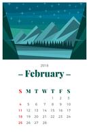 februari vektor
