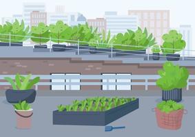 utomhusstad för odling av krukväxter vektor