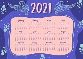 modern stil 2021 nyårskalenderdesign i geometrisk stil vektor