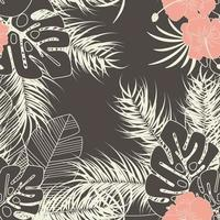 sommar sömlöst tropiskt mönster med monstera palmblad