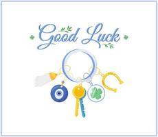 Glück Amulette Social Media Post vektor