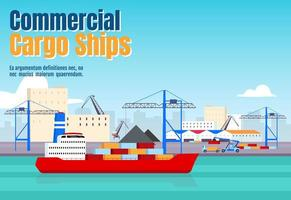 kommersiell lastfartygs banner