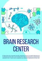 Poster des Gehirnforschungszentrums vektor