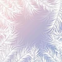 tropisches Design mit weißen Palmblättern und Pflanzen vektor