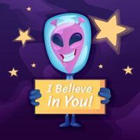Jag tror på ditt inlägg på sociala medier vektor