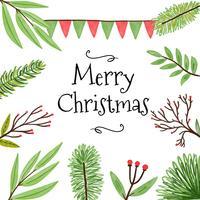 Weihnachtsblätter und Niederlassungs-Vektoren vektor