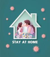während der Coronavirus-Epidemie zu Hause bleiben.