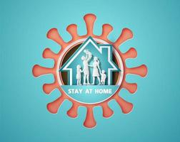 stanna hemma under koronavirusepidemin.