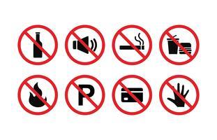 Förbjudna Sign Vector Set