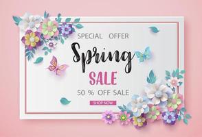 Frühlingsverkauf Hintergrund vektor