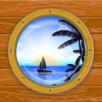 Bullauge Fenster Schiff vektor