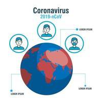 Flussdiagramm zur Verhinderung von Coronaviren vektor