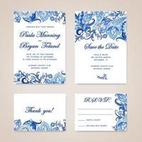 mall för bröllopsinbjudan