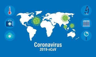 banner för förebyggande av koronavirus